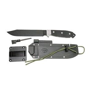 "KutMaster Survival Series Fixed 7"" Plain Bowie Black Powder Coated 1095 Steel Blade Micarta Handles Black Sheath"