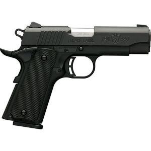 "Browning 1911-380 Black Label Compact .380 ACP Semi Auto Pistol 3.625"" Barrel 8 Rounds Combat Sights Steel Slide Polymer Frame Black Finish"