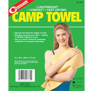 """Coghlans Camp Towel 12""""x30"""" Polyester Rayon Blend 9335"""