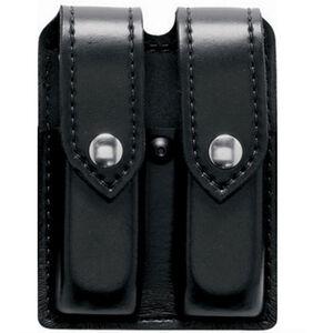 Safariland Model 77 Double Handgun Magazine Pouch GLOCK 21/21/41 Magazines Plain Finish Snap Closure Black 77-383-2PBL