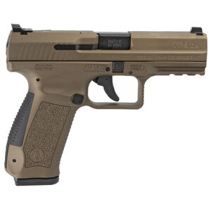 "Canik TP9DA 9mm Luger 4.07"" Barrel 18 Rounds Single/Double Action Trigger Polymer Frame Burnt Bronze"
