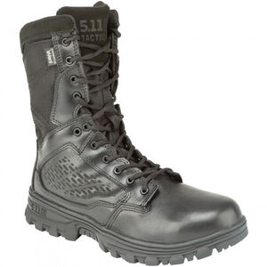 "5.11 Tactical EVO 8"" Waterproof Boot with Sidezip Size 11.5 Regular Black 12312"
