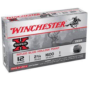 "Winchester Super X 12 Gauge 5 Round 2.75"" 1oz Rifled Slug HP X12RS15"