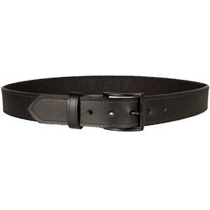 "DeSantis Econo Belt 1.5"" Width Size 34"" Bonded Leather Powder Coated Buckle Black E25BJ34Z3"