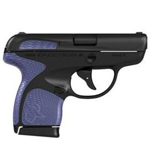 "Taurus Spectrum Semi Auto Pistol .380 ACP 2.8"" Barrel 6/7 Round Magazines Low Profile Fixed Sights Black Slide/Polymer Frame Black/Purple Accents"
