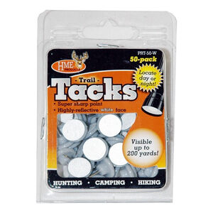 HME Trail Tacks Reflective Plastic White 50 Pack