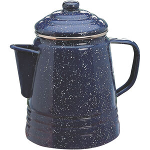 Coleman 9 Cup Percolator, Double-Coated Enamel