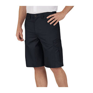 "Dickies Men's Industrial Flat Front Shorts 46"" Waist Black"