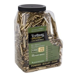 Top Brass .223 Remington Reconditioned Brass  1,000 Count Jug
