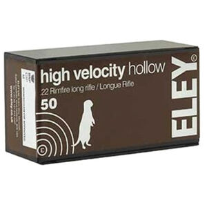 Eley High Velocity Hollow 22 LR 50 Rounds 40 Grain HP 1250 fps