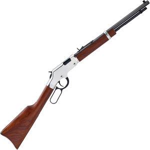 "Henry Golden Boy Silver Youth .22 LR/L/S Lever Action Rifle Rimfire 17"" Octagon Barrel 12 Rounds Semi-Buckhorn Rear Sight Walnut Stock Nickel Receiver Blued Finish"