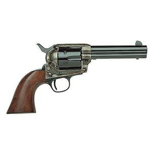 """Taylor's and Company 1873 Cattleman Single-Action Revolver .45 Long Colt 4-3/4"""" Barrel 6 Rounds Wood Grips Case-Hardened Blue Finish"""