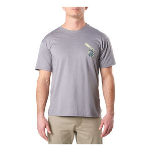 5.11 Cold Hands 45 Men's Tee Short Sleeve 50/50 Polyester Cotton XL Heather Grey