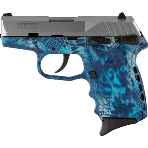"SCCY CPX-1 9mm Luger Subcompact Semi Auto Pistol 3.1"" Barrel 10 Rounds Ambidextrous Safety Kryptek Pontus Polymer Frame with Stainless Slide Finish"