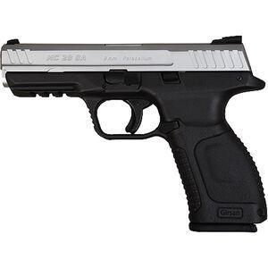 "EAA Girsan MC28SA 9mm Luger Semi Auto Pistol 4.25"" Barrel 15 Rounds Two Tone Black Polymer Frame Matte Silver Finish"