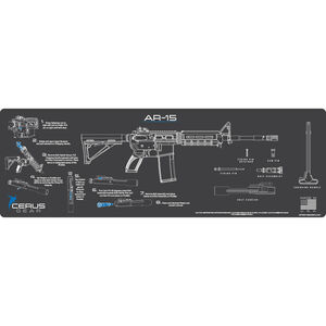 """Cerus Gear AR-15 Instructional ProMat Rifle Size 12""""x36"""" Synthetic Grey/Blue"""