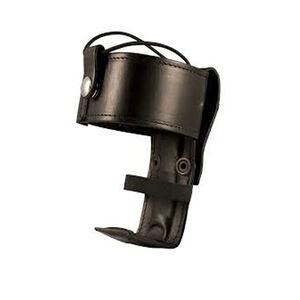 Boston Leather 5487 Deluxe Adjustable Radio Holder Elastic Strap Leather Plain Black 5487-1-E