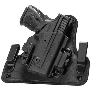 "Alien Gear ShapeShift 4.0 Springfield XDM Compact with 3.8"" Barrel IWB Holster Right Handed Synthetic Backer with Polymer Shell Black"