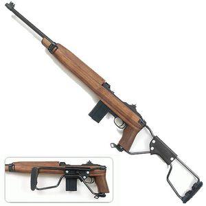 "Auto-Ordnance M1 Carbine Paratrooper Semi Auto Carbine .30 Carbine 18"" Barrel 15 Rounds Blade Front Sight Flip Style Rear Sight Walnut Folding Stock Parkerized Finish AOM150"