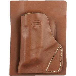 Hunter Company Pocket Holster Ruger LC9 Open Top Belt Holster Leather Tan
