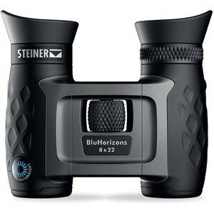 Steiner BluHorizons Binoculars 8x22mm Porro Prism NBR Rubber Armor Black