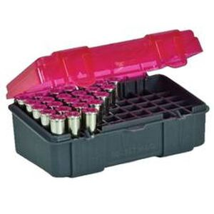 Plano Ammunition Field Box .357 Magnum/.38 Special/.38 S&W Holds 50 Rounds Charcoal/Rose 1225-50