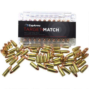 CapArms .38 Special Target Match Ammunition 50 Rounds RNFP 158 Grains M038N158B
