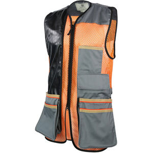 Beretta USA Two-Tone Vest 2.0 Cotton and Mesh Panels Faux Leather Shooting Patch Medium Black