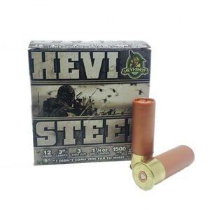 "Hevi-Shot Hevi-Steel 12 Ga 3"" #3 Steel 1.25oz 250 Rounds"