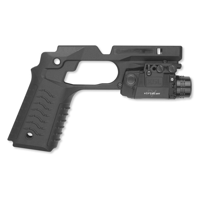 Viridian X5L-R with Recover Grip and Rail System for 1911 Black