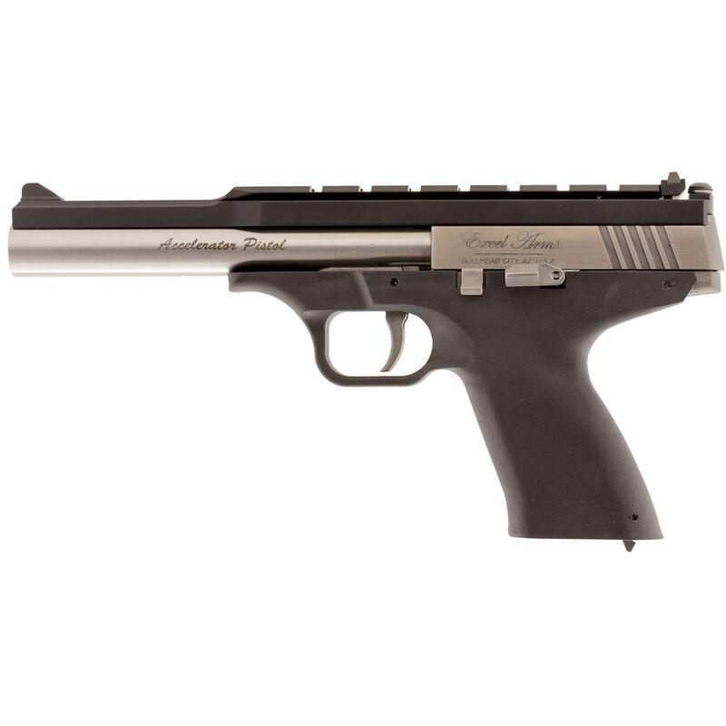 "Excel Arms MP-22 .22 WMR Semi Auto Pistol 6.5"" Barrel 9 Rounds Adjustable Sights Stainless Steel Slide Polymer Frame Black"