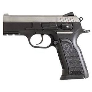 """EAA Witness P Carry Semi Auto Handgun 9mm Luger 3.6"""" Barrel 10 Rounds Black Polymer Grips Stainless Finish 600246"""