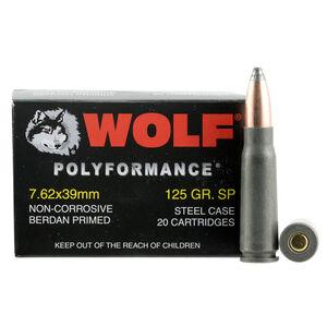 Wolf Polyformance 7.62x39mm Ammunition 125 Grain Bi-Metal Jacketed SP Steel Cased 2410 fps
