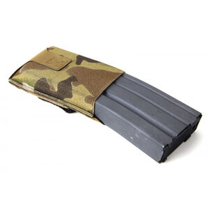Blue Force Gear High Rise M4/AR-15 Belt Mounted Single Magazine Pouch Ten Speed Military Grade Elastic Multi-Cam