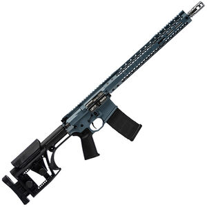 "Black Rain BRO Comp3G AR-15 Semi Auto Rifle 5.56 NATO 16"" Barrel 30 Rounds LUTH-AR MBA-1 Stock SLM M-LOK Free Float Handguard Cerakote Blue"