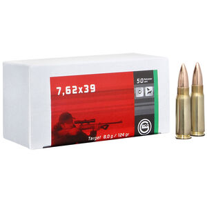 GECO 7.62x39 Ammunition 20 Rounds 124 Grain Full Metal Jacket