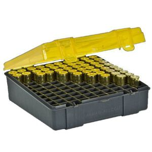 Plano .380/9mm Ammunition Field Box 100 Rounds Charcoal Yellow 122400