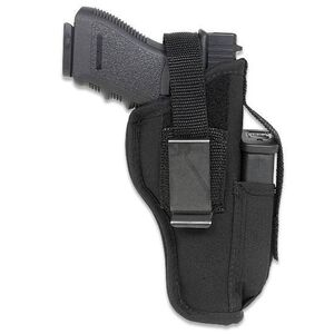 "Gunmate Ambidextrous Hip Holster Large-Frame Autos 4"" to 5"" Barrels Size 12 Synthetic Black"