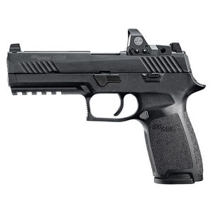 "SIG Sauer P320 Nitron RX Full Size Semi Auto Pistol 9mm Luger 4.7"" Barrel 17 Rounds Tall Contrast Sights Romeo1 Reflex Red Dot Sight Modular Polymer Frame/Grip Matte Black Finish"