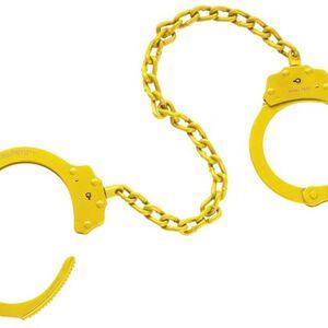 "Peerless Handcuff Company 15"" Leg Irons Yellow 4743Y"