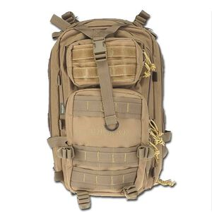 "DRAGO Gear Tracker Backpack 18""x11""x11"" 600D Polyester Tan 14-301TAN"
