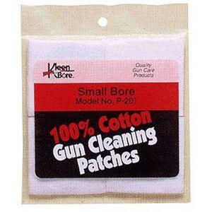 "Kleen-Bore Cotton Cleaning Patches .22 to .270 Caliber 1-1/4"" 100 Patches"