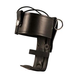 Boston Leather 5487 Deluxe Adjustable Radio Holder D-Rings Leather Plain Black 5487RC-1