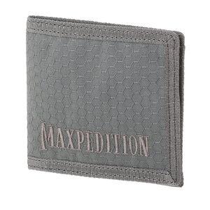Maxpedition BFW Bi-Fold Wallet Triple Nylon Fabric Construction Anti-Counterfeit Logo Embossed Liner Teflon Coated Matte Gray