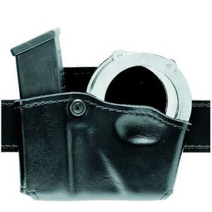 Safariland Model 573 Open Top Magazine/Handcuff Pouch Group 1 Hardshell STX Left Hand Draw STX Plain Finish Black 573-383-412