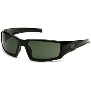 Pyramex Safety Products Pagosa Eye Protection Safety Glasses with Smoke Green Lenses and Black Frames VGSB522T