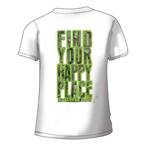 Realtree Women's Happy Place Short Sleeve T Shirt 2XL Cotton White with Camo