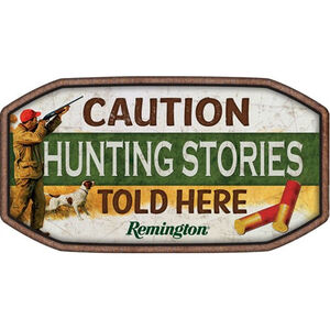 "Open Road Brands ""Remington Hunting Stories"" Embossed Tin Sign 15""x12.4"""
