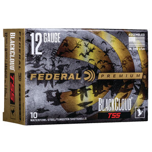"""Federal Black Cloud TSS 12 Gauge Ammunition 100 Rounds 3"""" #3 and #9 1-1/4 Oz Steel and Tungsten Shot 1450 fps"""