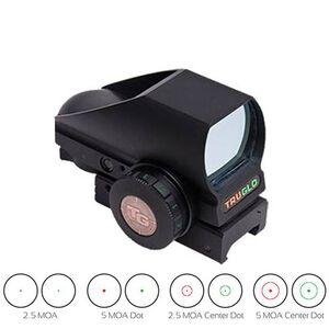 TRUGLO Tru-Brite Dual Color Red/Green Dot Sight 4 Reticle Reflex Sight Matte Black TG8380B